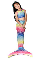 cheap -The Little Mermaid Bikini / Costume Girls' Halloween / Carnival Festival / Holiday Halloween Costumes Rainbow Mermaid Vintage