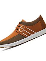 cheap -Men's Canvas Summer Comfort Sneakers Black / Yellow / Blue