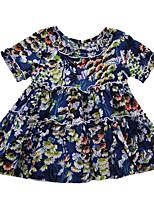 Недорогие -малыш Девочки Цветочный принт С короткими рукавами Платье