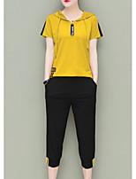 cheap -Women's Set - Color Block / Letter Pant