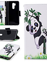 cheap -Case For LG G7 Wallet / Card Holder / with Stand Full Body Cases Panda Hard PU Leather for LG G7
