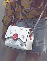 preiswerte -Damen Taschen PU Umhängetasche Muster / Druck Weiß / Schwarz