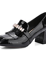 cheap -Women's Shoes Nappa Leather Spring Comfort Heels Chunky Heel Black / Gray