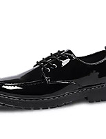 cheap -Men's Patent Leather Spring Comfort Oxfords Black