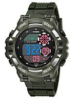 Недорогие -SYNOKE Муж. Спортивные часы / электронные часы Календарь / Секундомер / Защита от влаги PU Группа Мода Черный / Белый / Темно-синий / Фосфоресцирующий