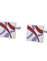 cheap -Geometric Silver Cufflinks Copper Simple / Basic Men's Costume Jewelry For Gift / Daily