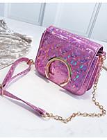 cheap -Women's Bags PU(Polyurethane) Shoulder Bag Zipper Blue / Silver / Blushing Pink