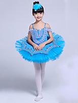 abordables -Danse classique Robes Fille Utilisation Spandex Ruché / Combinaison Sans Manches Tutu