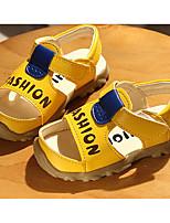 Недорогие -Девочки Обувь Искусственная кожа Лето Удобная обувь / Обувь для малышей Сандалии для Белый / Желтый / Синий