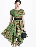 cheap -MARCOBOR Women's Vintage / Elegant Sheath Dress - Floral
