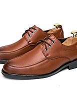 Недорогие -Муж. Полиуретан Лето Удобная обувь Туфли на шнуровке Черный / Коричневый