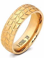 cheap -Men's Stylish Ring - Titanium Steel Tire Artistic, European, Trendy 7 / 8 / 9 Gold / Silver For Daily / Holiday