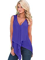 abordables -Mujer Playa Blusa Un Color