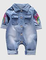 economico -Bambino Da ragazza Essenziale Arcobaleno Manica lunga Cotone Intero / Bambino (1-4 anni)