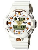 Недорогие -SANDA Муж. Спортивные часы / электронные часы Японский Календарь / Защита от влаги / Хронометр силиконовый Группа Роскошь / Мода Черный / Белый / Синий