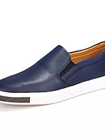 cheap -Men's PU(Polyurethane) Fall Comfort Loafers & Slip-Ons Black / Blue