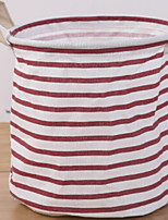 cheap -Cotton / Polyster Round Cute / New Design Home Organization, 1pc Laundry Bag & Basket