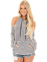 cheap -Women's Street chic Hoodie - Striped