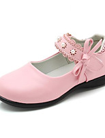 cheap -Boys' / Girls' Shoes PU(Polyurethane) Spring Comfort Flats Lace-up for White / Black / Pink