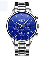 baratos -Homens Relógio Elegante Calendário / Noctilucente / Relógio Casual Lega Banda Fashion Preta / Prata / Ouro Rose