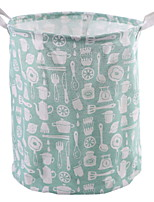 abordables -Coton / Polyester Rond Cool Accueil Organisation, 1pc Paniers de Rangement