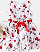 Недорогие -Дети Девочки Фрукты Без рукавов Платье