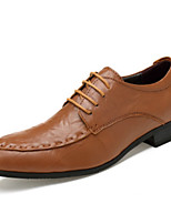 cheap -Men's Formal Shoes Nappa Leather Spring Oxfords Brown / Dark Brown / Khaki