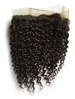 cheap -CLAROLAIR All Curly 360 Frontal Indian Hair / Kinky Curly Swiss Lace Human Hair Adjustable / Hot Sale / Comfortable Christmas / Christmas Gifts / Wedding