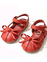 Недорогие -Девочки Обувь Полиуретан Весна & осень Удобная обувь / Детская праздничная обувь На плокой подошве для Черный / Красный / Миндальный