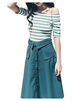 cheap -Women's Set - Striped Dress