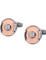 cheap -Circle / Geometric Silver Cufflinks Crystal / Copper Classic / Basic Men's Costume Jewelry For Party / Formal