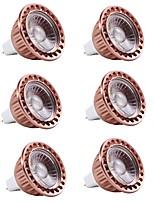 preiswerte -6pcs 5 W 400 lm MR16 LED Spot Lampen 1 LED-Perlen COB Dekorativ Warmes Weiß / Kühles Weiß 12 V