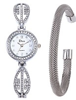 abordables -Mujer Reloj de Vestir / Reloj Pulsera Chino Creativo Acero Inoxidable Banda Elegante Plata / Un año