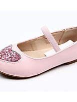 cheap -Girls' Shoes Cowhide Spring Comfort / Flower Girl Shoes Flats for Gold / Black / Pink