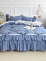 preiswerte -Bettbezug-Sets Geometrisch Polyester Applikation 3 Stück