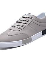 preiswerte -Herrn Leinwand Sommer Komfort Sneakers Schwarz / Grau / Rot