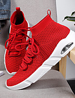 cheap -Men's Knit Summer Comfort Sneakers Black / Gray / Red