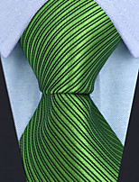 cheap -Men's Party / Work Necktie - Solid Colored / Striped / Jacquard