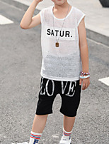 cheap -Kids Boys' Geometric Sleeveless Clothing Set