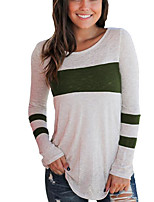 economico -t-shirt da donna - girocollo color block