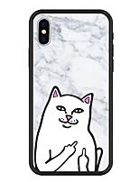 Недорогие -Кейс для Назначение Apple iPhone X / iPhone 8 Plus С узором Кейс на заднюю панель Мультипликация / Мрамор Твердый Акрил для iPhone X / iPhone 8 Pluss / iPhone 8