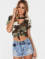 cheap -Women's Going out T-shirt - Camouflage