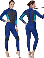 cheap -Women's Full Wetsuit 3mm SCR Neoprene Diving Suit Anatomic Design, Stretchy Long Sleeve Autumn / Fall / Spring / Summer