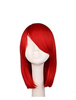 cheap -Synthetic Wig Straight Layered Haircut Synthetic Hair 12 inch Anime / Party / Classic Red Wig Women's Long Capless Red