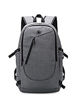 cheap -Unisex Bags Oxford Cloth Backpack Zipper Gray