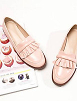 cheap -Women's Shoes Microfiber Summer Comfort Flats Flat Heel Round Toe Black / Pink