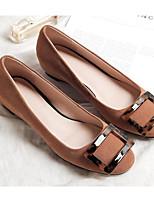 cheap -Women's Shoes Sheepskin Spring Comfort Flats Flat Heel Black / Gray / Dark Brown