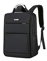 cheap -Unisex Bags Nylon School Bag Zipper Black