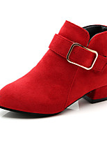 cheap -Girls' Shoes PU(Polyurethane) Fall & Winter Tiny Heels for Teens Boots Walking Shoes for Teenager Red / Pink / Khaki