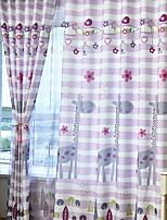 Недорогие -Детские шторы Детская Геометрический принт Полиэстер С принтом